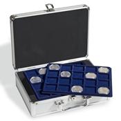 Møntkuffert inkl. 6 mønt bakker (Til 120 mønter)