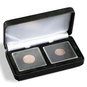 Ecrin Numismatique NOBILE pour 2 QUADRUM, 50x50 mm, noir