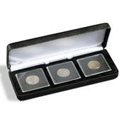 Ecrin Numismatique NOBILE pour 3 QUADRUM, 50x50 mm, noir