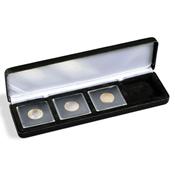 Ecrin Numismatique NOBILE pour 4 QUADRUM, 50x50 mm, noir