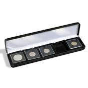 Ecrin Numismatique NOBILE pour 5 QUADRUM, 50x50 mm, noir