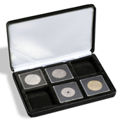 Ecrin Numismatique NOBILE pour 6 QUADRUM, 50x50 mm, noir