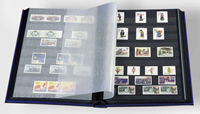 Insteekboek - Blauw - A4 - 16 zwarte bladzijden - ongewatteerde band