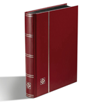 Stockbook - Red - Size A5 - 32 black pages - non-padded cover