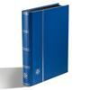 Stockbook - Blue - Size A5 - 32 black pages - non-padded cover