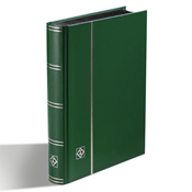 Stockbook - Green - Size A5 - 32 black pages - non-padded cover