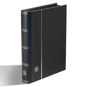 Stockbook - Black - Size A5 - 32 black pages - non-padded cover
