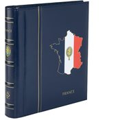 Turn-bar Binder PERFECT DP, classic design, 'FRANCE' imprint, incl. Slipcase, blue