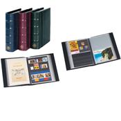 Postkortalbum - Blå - Med 50 klare lommer