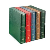 LIGHTHOUSE Springback Binder LUXUS DL, incl. slipcase, green