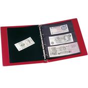 Album pour billets de banque VARIO, 10 Pochettes incluses, rouge