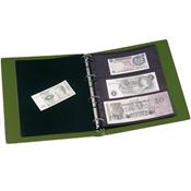 Album pour billets de banque VARIO, 10 Pochettes incluses, vert