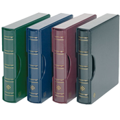 Turn-bar Binder PERFECT DP, in classic design with  slipcase, blue