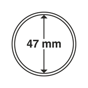Leuchtturm møntkapsler - Indre Ø: 47 mm - Ydre Ø: 53 mm - 10 stk.