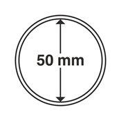 capsules pour pièces de monnaie diamètre intérieur  50 mm