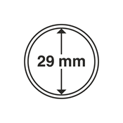 coin capsules inner diameter 29 mm