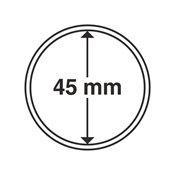 capsules pour pièces de monnaie diamètre intérieur  45 mm