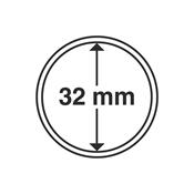 Capsules pour pièces de monnaie diamètre intérieur  32 mm