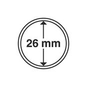 Leuchtturm møntkapsler - Indre Ø:26 mm-Ydre Ø:32 mm - 10 stk.