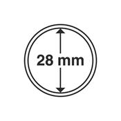 Leuchtturm møntkapsler - Indre Ø: 28 mm - Ydre Ø: 34 mm - 10 stk.