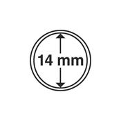 capsules pour pièces de monnaie diamètre intérieur  14 mm