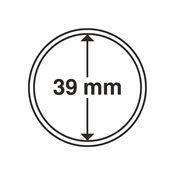 capsules pour pièces de monnaie diamètre intérieur  39 mm