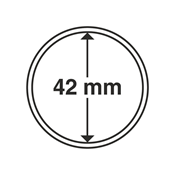 Leuchtturm møntkapsler - Indre Ø: 42 mm - Ydre Ø: 48 mm - 10 stk.