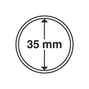 Kolikkokapseleita - Sisähalkaisija 35mm - Ulkohalkaisija 41mm - 10 Kpl