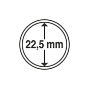 Kolikkokapseleita - Sisähalkaisija 22,5mm - Ulkohalkaisija 28,5mm - 10 Kpl