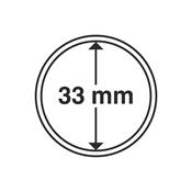 Leuchtturm møntkapsler - Indre Ø: 33 mm - Ydre Ø: 39 mm - 10 stk.