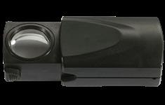 Loupe rétractable avec LED, de Leuchtturm, grossissement 20x, noir, Ø 21 mm