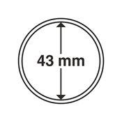 capsules pour pièces de monnaie diamètre intérieur  43 mm