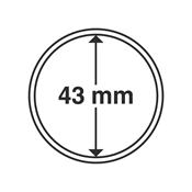 Leuchtturm møntkapsler - Indre Ø: 43 mm - Ydre Ø: 49 mm - 10 stk.