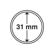 Kolikkokapseleita - Sisähalkaisija 31mm - Ulkohalkaisija 37mm - 10 Kpl