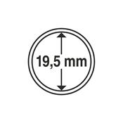 capsules pour pièces de monnaie diamètre intérieur  19,5 mm