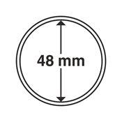 capsules pour pièces de monnaie diamètre intérieur  48 mm