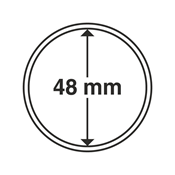 Leuchtturm møntkapsler - Indre Ø: 48 mm - Ydre Ø: 54 mm - 10 stk.