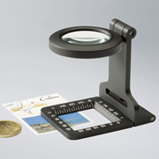 Folding magnifier 5x magnification, metal, black