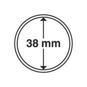Kolikkokapseleita - Sisähalkaisija 38mm - Ulkohalkaisija 44mm - 10 Kpl