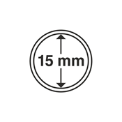 Leuchtturm Møntkapsler - Indre Ø: 15mm - Ydre Ø: 21mm