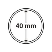 Kolikkokapseleita - Sisähalkaisija 40mm - Ulkohalkaisija 45mm - 10 Kpl