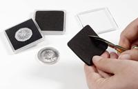 insertions pour capsules QUADRUM pour pièces de monnaie pour créations pers