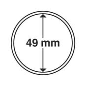 Leuchtturm møntkapsler - Indre Ø: 49 mm - Ydre Ø: 55 mm - 10 stk.