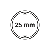 Leuchtturm møntkapsler - Indre Ø: 25 mm - Ydre Ø: 32 mm - 10 stk.