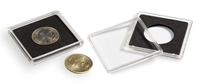 capsules QUADRUM pour pièces de monnaie de diamètre intérieur 17 mm