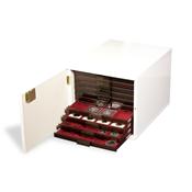 Coffre à Médailliers pour 10 médailoliers standard, Blanc (brillant)