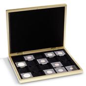 Coffret PIANO pour 20 capsules QUADRUM, Or-métal