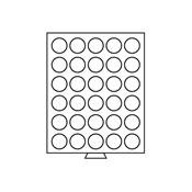 Médaillier 30 compartiments circulaires de 37 mm Ø, teinte fumée