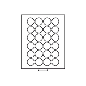 Møntboks til møntkapsler - Røgfarvet - 24 inddelinger til CAPS