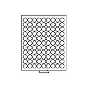 Møntboks Med Runde Inddelinger - Grå - Diameter 19,25mm - 99 inddelinger